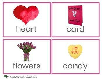 Valentines Day Write the Room - Real pictures - Kindergarten FDK