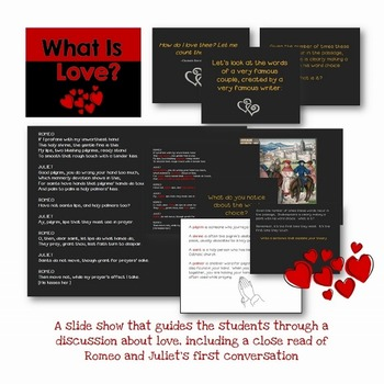 Valentine's Day Writing Activity for Secondary Students