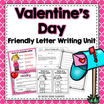 Valentines Day Writing Activty: Writing a Friendly Letter