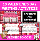 Valentine's Day Writing Activity Cards: Common Core Aligned