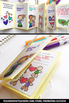 Foldable Valentines Day Craft Accordion Book, Kindness Activities
