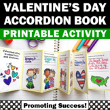 Valentines Day Craft KINDNESS Activity Accordion Book, Valentine Craftivty