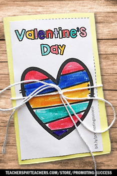 Valentines Day Craft KINDNESS Activity Accordion Book, Valentine Craftivty