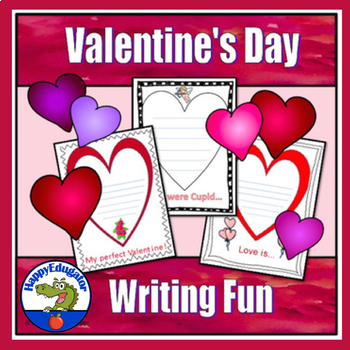 Valentine's Day Writing Prompts on Decorative Paper