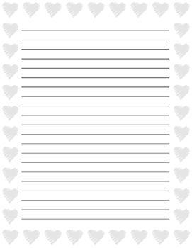 "Valentine""s Day Writing Paper"
