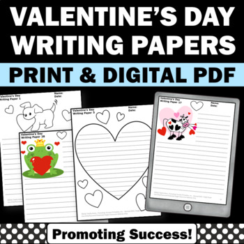 Valentine's Day Activities Creative Writing Papers { Sheet