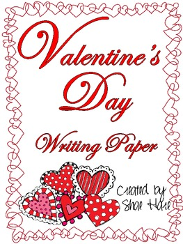 Valentine's Day Writing Paper Handwriting Heart Doodle Frames February