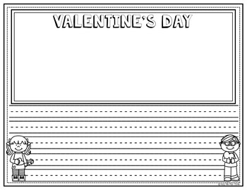 Valentine's Day Activities No Prep Fun and Writing Pages FREEBIE