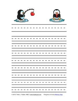 Free Valentine's Day Writing Paper (Primary Ruled)