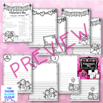 Valentine's Day Writing Paper ~ UNPLUGGED! {Set 3}