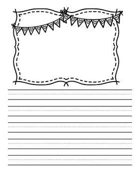 Valentine's Day Writing Paper and Graphic Organizers