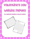 Valentine's Day Writing Papers
