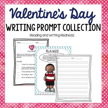 Valentine's Day Writing Prompt Collection - NO PREP