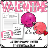 Valentines Day Writing Prompt Freebie: Grades 2 - 5 // Digital Version Included