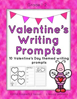 Valentine's Day Writing Prompts: Grades 1-2