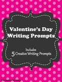 Valentine's Day Writing Prompts - 5 printable writing prom