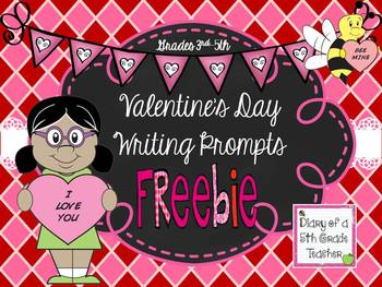 Valentine's Day Writing Prompts Freebie