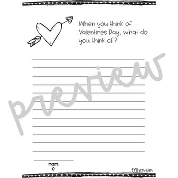 Valentines Day // Writing Prompts: Grades 2 - 5