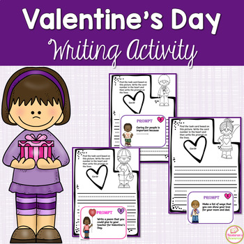 Valentine's Day Writing Prompts:Papers & Task Cards