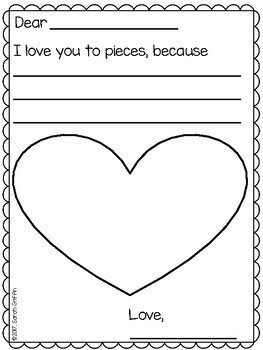 Valentines Day Writing and Craft Activity