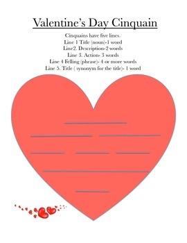 Valentines day writing prompt with textual evidence and cinquain valentines day writing prompt with textual evidence and cinquain poem template maxwellsz