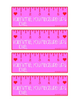 Valentine's Day You Measure UP Tag #2