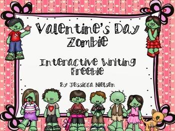 Valentine's Day Zombie Interactive Writing Freebie