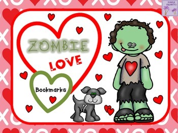 "Valentine's Day ""Zombie Love"" Bookmarks"