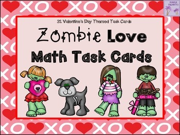 Valentine's Day Zombie Love Math Task Cards