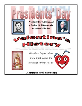 Valentine's Day and Presidents' Day Lessons and Activities Bundle