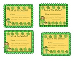 Valentine's Day and St. Patrick's Day Punch Cards