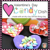FREE Valentine's Day Craft | Clay Heart Dishes