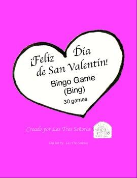 Valentine's Day bingo- Spanish/English