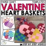Valentines Day Card Holder Paper Craft | Woven Heart Art Project