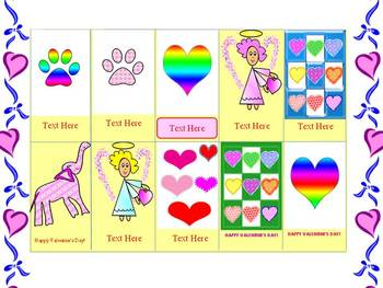Valentine's Day - Cards - Personal or Commercial Use