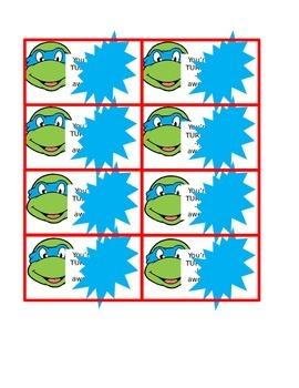 Valentines Day cards-ninja turtles