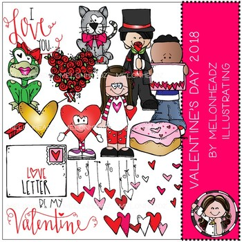 Valentines Day clip art - 2018 - COMBO PACK - by Melonheadz