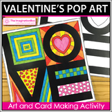 Valentines Day Coloring Pages | Pop Art Activity and Card Making