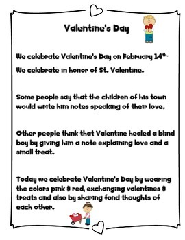 Valentine's Day differentiated  Nonfiction and Reading Comprehensio
