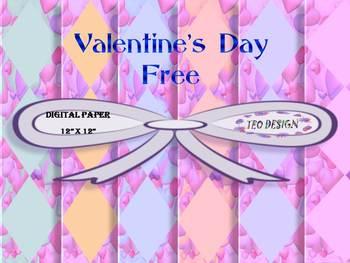 Digital paper - Valentine's Day