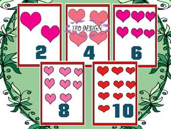 Hearts - Activities - Flashcards - Frames - Clip Art