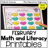 Valentine's Day Math and Literacy Grade 2