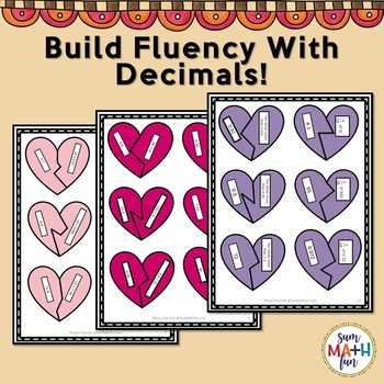 Valentine's Day: Fourth - Fifth Grade Multiplying and Dividing Decimal Numbers
