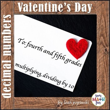 Valentine's Day - Multiplying and Dividing Decimal Numbers