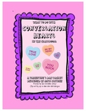 Valentine's Day for Upper Grades - Conversation Hearts in the Classroom