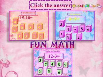 End of the year activities - Fun Math - Addition and subtraction
