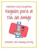 Valentine's Day in Argentina - Día del Amigo Authentic Text Reading Activity