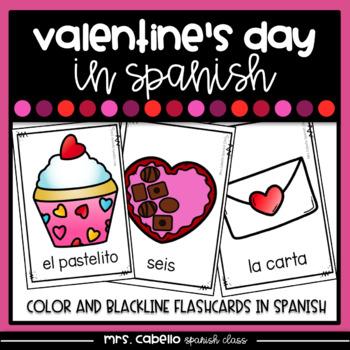 Valentines Day in Spanish Flashcards - Dia de San Valentin