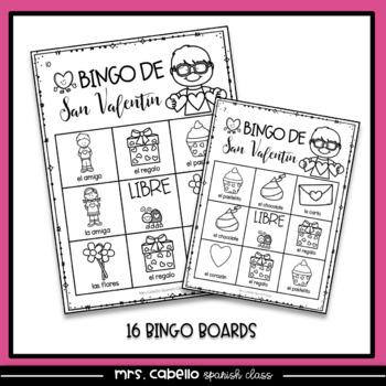 Valentines Day in Spanish Worksheets and Bingo - Dia de San Valentin