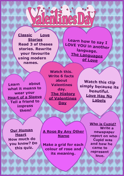Valentines Day Click-and-Do Activity